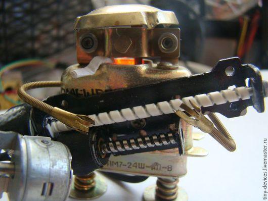 """Миниатюрные модели ручной работы. Ярмарка Мастеров - ручная работа. Купить Роботы-музыканты (""""Робобанда""""). Handmade. Робот, сталь"""