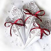 Корзинки ручной работы. Ярмарка Мастеров - ручная работа Кулечки для лепестков для осыпания жениха и невесты. Handmade.
