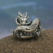 Материалы для творчества handmade. Livemaster - original item River dragon charm. Handmade.