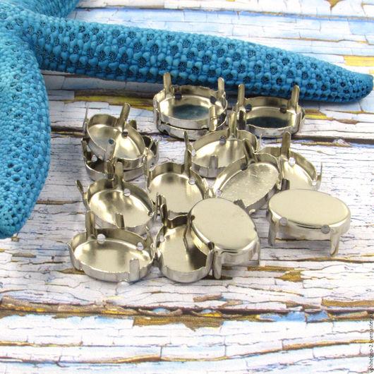 Для украшений ручной работы. Ярмарка Мастеров - ручная работа. Купить 14 х 10 мм пришивные цапы для кристаллов нашивные цапы для страз. Handmade.