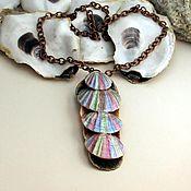 "Украшения handmade. Livemaster - original item Pendant of seashells on a copper chain ""Bosse"". Handmade."