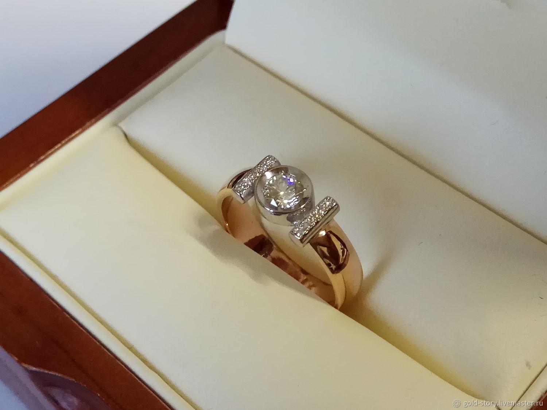 1c123941d5d8 Золотое кольцо с бриллиантом на заказ – купить в интернет-магазине ...