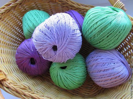 Вязание ручной работы. Ярмарка Мастеров - ручная работа. Купить Пряжа Пехорка Ажурная. Handmade. Разноцветный, пряжа для вязания