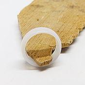 Украшения handmade. Livemaster - original item Wide ring of white chalcedony 18 R-R. Handmade.