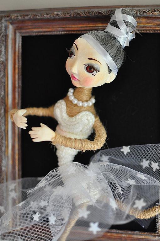 """Коллекционные куклы ручной работы. Ярмарка Мастеров - ручная работа. Купить Кукла """"Пуанточка"""". Handmade. Балерина, панно, флис"""