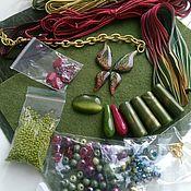 Материалы для творчества handmade. Livemaster - original item Necklace and earrings set#2. Handmade.