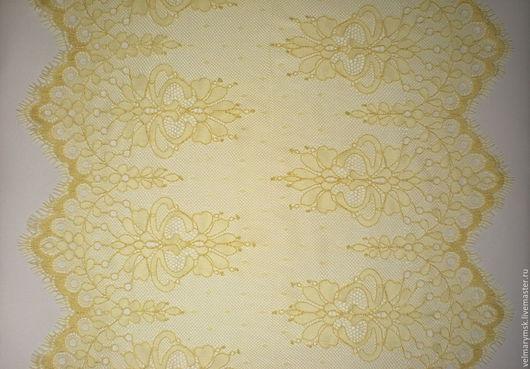 Аппликации, вставки, отделка ручной работы. Ярмарка Мастеров - ручная работа. Купить Кружево реснички JY-19 желтый. Handmade.