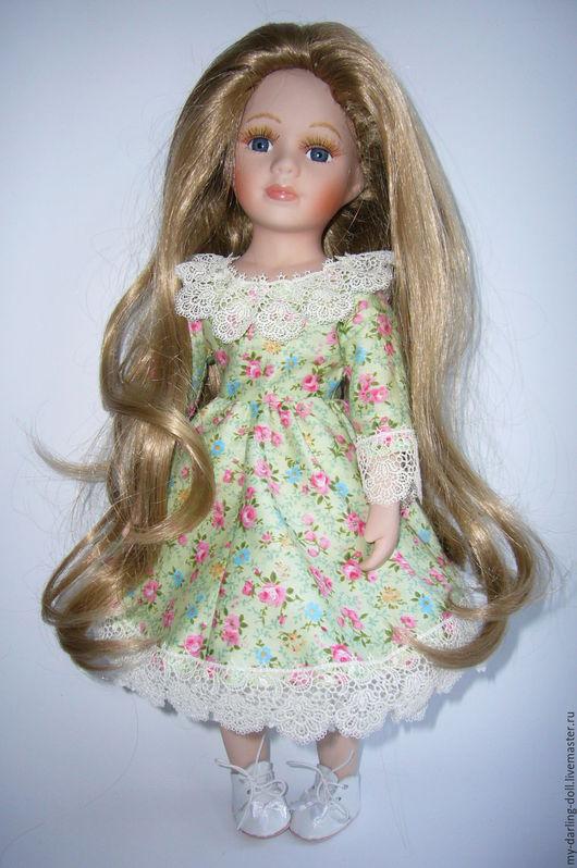 Коллекционные куклы ручной работы. Ярмарка Мастеров - ручная работа. Купить Алиса. Авторская большая фарфоровая кукла (42 см). Handmade.