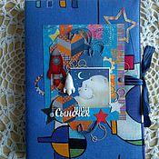 """Канцелярские товары ручной работы. Ярмарка Мастеров - ручная работа Мамин дневник """"Космос"""". Handmade."""