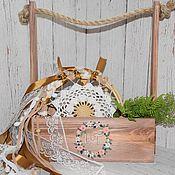 Свадебный салон ручной работы. Ярмарка Мастеров - ручная работа Wooden Roses - Цветочная корзина на свадьбу и не только. Handmade.