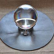 Фен-шуй и эзотерика ручной работы. Ярмарка Мастеров - ручная работа Шар из хрусталя на серебряной подставке. Handmade.
