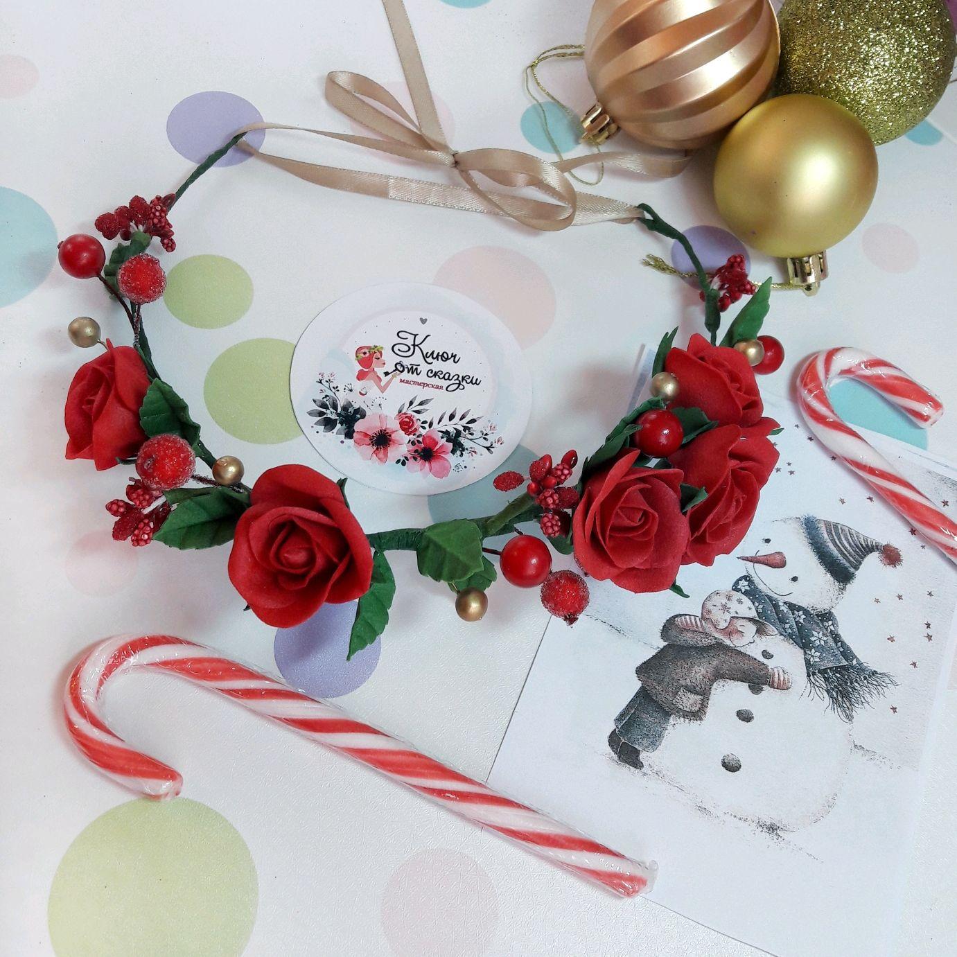 """Веночек """"Красные розы"""", Диадемы, Санкт-Петербург,  Фото №1"""