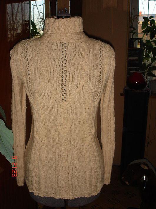 Кофты и свитера ручной работы. Ярмарка Мастеров - ручная работа. Купить Джемпер  натуральный беж. Handmade. Ручное вязание