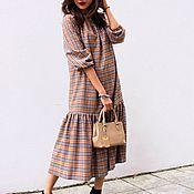 Одежда ручной работы. Ярмарка Мастеров - ручная работа Тёплое платье в клетку Burberry. Handmade.