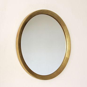 Для дома и интерьера ручной работы. Ярмарка Мастеров - ручная работа Круглое деревянное зеркало Modena, зеркало круглое в раме. Handmade.