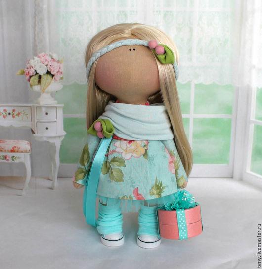 Куклы тыквоголовки ручной работы. Ярмарка Мастеров - ручная работа. Купить Текстильная интерьерная кукла. Handmade. Мятный, текстильная игрушка