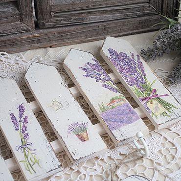 Мебель ручной работы. Ярмарка Мастеров - ручная работа Вешалка на кухню, в прихожую для полотенец, украшений Лаванда. Handmade.