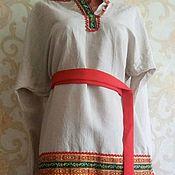 Одежда ручной работы. Ярмарка Мастеров - ручная работа русская льняная рубашка. Handmade.