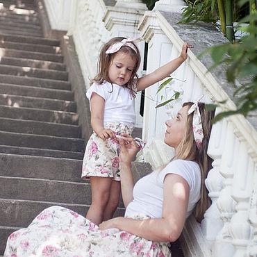 Одежда ручной работы. Ярмарка Мастеров - ручная работа Фэмили лук для мамы с дочкой. Handmade.
