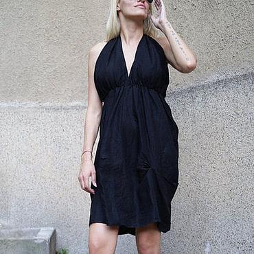 Одежда ручной работы. Ярмарка Мастеров - ручная работа Летнее платье/Черное платье/F1591. Handmade.