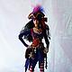 Коллекционные куклы ручной работы. Кукла Ведьма -пиратка. Лариса Исаева (kuklaelli). Ярмарка Мастеров. Волшебница, текстиль