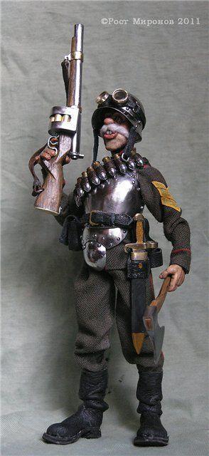 Коллекционные куклы ручной работы. Ярмарка Мастеров - ручная работа. Купить Блиндированный гренадёр Редькин. Находится в частной коллекции. Handmade.