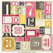 Материалы для творчества ручной работы. Ярмарка Мастеров - ручная работа Бумага двухстороняя Примечательная дата. Handmade.