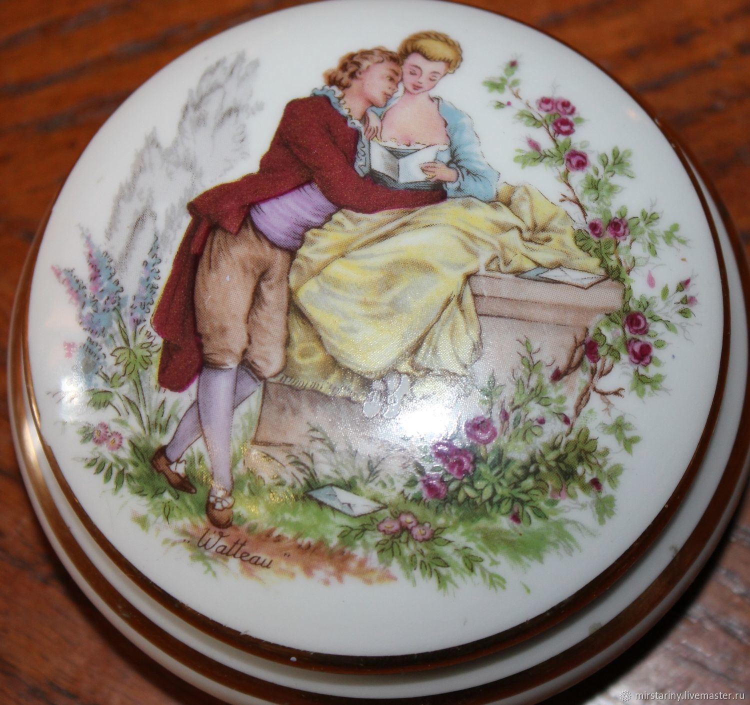 Two porcelain boxes (compact boxes), Limoges, France, Vintage interior, Moscow,  Фото №1