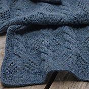 Аксессуары handmade. Livemaster - original item Blue scarf, stole, male/female, knitted lamb wool. Handmade.