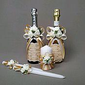 Бутылки ручной работы. Ярмарка Мастеров - ручная работа Оформление свадебных бутылок. Handmade.