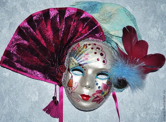 Интерьерные  маски ручной работы. Ярмарка Мастеров - ручная работа. Купить Маска венецианская, карнавальная, интерьерная. Авторская работа.. Handmade.
