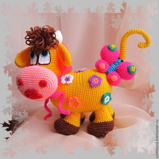 Игрушки животные, ручной работы. Ярмарка Мастеров - ручная работа. Купить Цветочная корова.. Handmade. Комбинированный, игрушки ручной работы