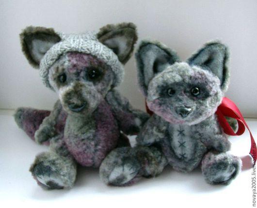 Мишки Тедди ручной работы. Ярмарка Мастеров - ручная работа. Купить Волчата Эл и Лэйла. Handmade. Волк, подарок
