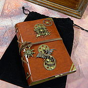 handmade. Livemaster - original item Notepad steampunk