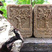 Косметика ручной работы handmade. Livemaster - original item HYDROCHLORIC TAR soap with silk and plant extracts. Handmade.