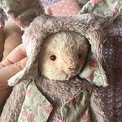 Мишки Тедди ручной работы. Ярмарка Мастеров - ручная работа Мишка в шапочке зайки. Handmade.