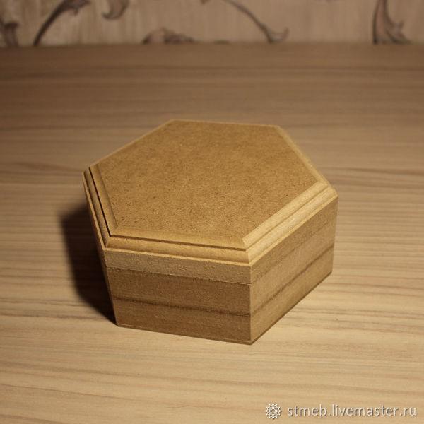 Шкатулка шестигранная с1515в2 (15 см диаметр)