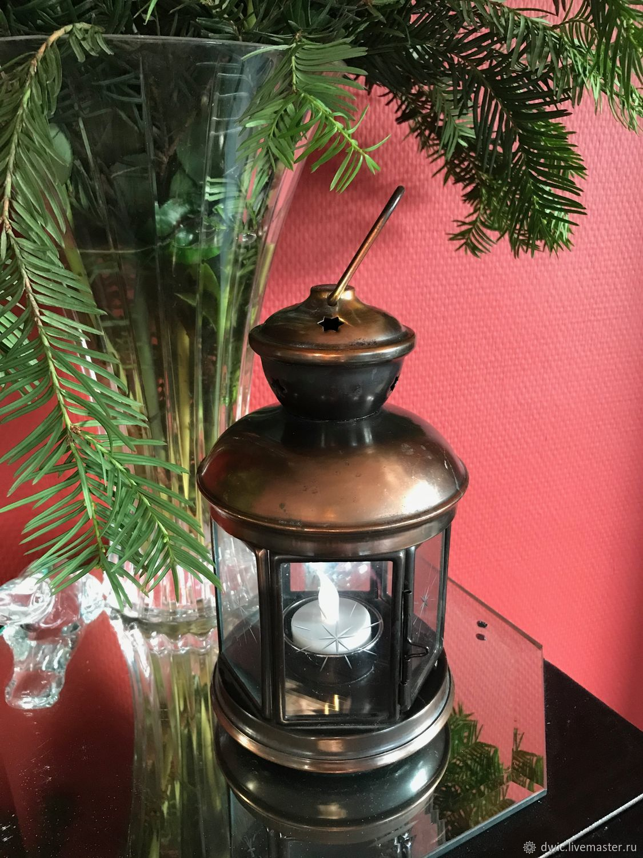 Christmas candle holder lantern, the Netherlands, Vintage Souvenirs, Arnhem,  Фото №1