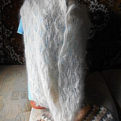 Аксессуары ручной работы. Ярмарка Мастеров - ручная работа Пуховый ажурный снуд, длинный снуд. Handmade.
