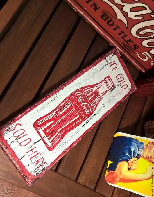 Город ручной работы. Ярмарка Мастеров - ручная работа. Купить Кока-Кола в стиле ретро. Handmade. Белый, винтаж