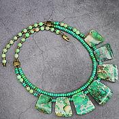 Украшения handmade. Livemaster - original item NEW!Double row necklace natural green variscite. Handmade.