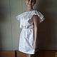 Платья ручной работы. Ярмарка Мастеров - ручная работа. Купить Белоснежное платье из вышитого хлопка. Handmade. Белый, однотонный