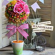 """Цветы и флористика ручной работы. Ярмарка Мастеров - ручная работа Топиарий """"Lollipop"""". Handmade."""