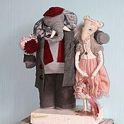 Куклы и игрушки ручной работы. Ярмарка Мастеров - ручная работа Слон и Мыш. Handmade.