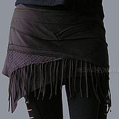 Одежда handmade. Livemaster - original item Skirt belt black fleece for dancing. Handmade.