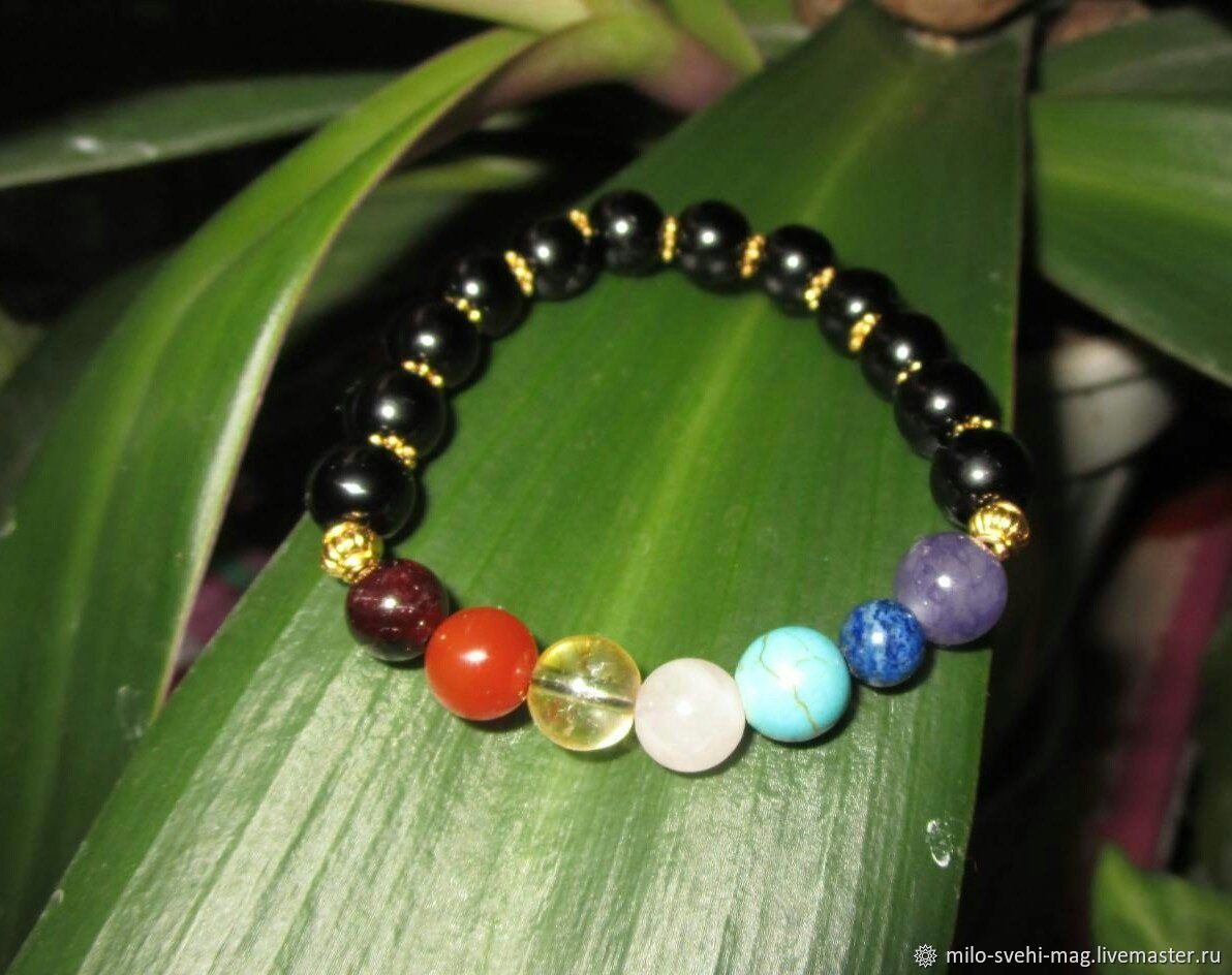 Chabrowy bracelet -7 Chakras healing,protection, health support, Amulet, Moscow,  Фото №1