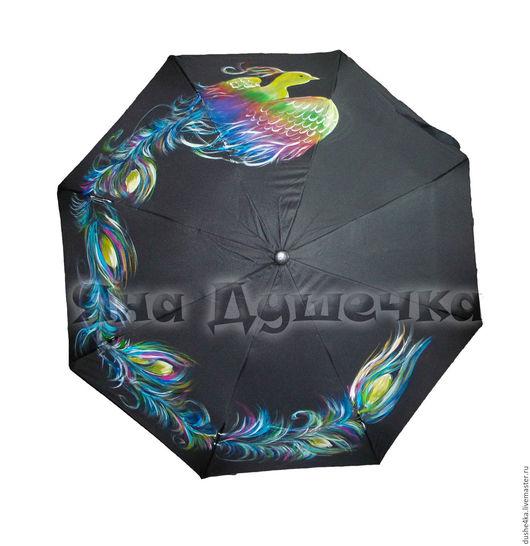 """Зонты ручной работы. Ярмарка Мастеров - ручная работа. Купить Зонт с ручной росписью """"Жар-птица"""". Handmade. Зонт"""