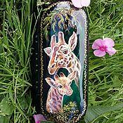 Аксессуары handmade. Livemaster - original item Eyeglass case with giraffes. Handmade.
