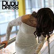 Одежда handmade. Livemaster - original item Lace wedding dress, straight dress. Handmade.