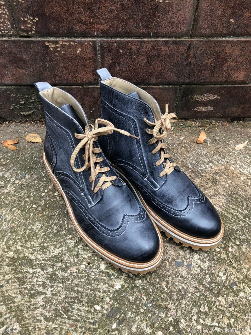 Shoes: Men's Inspector long ' Grey', Boots, Moscow,  Фото №1